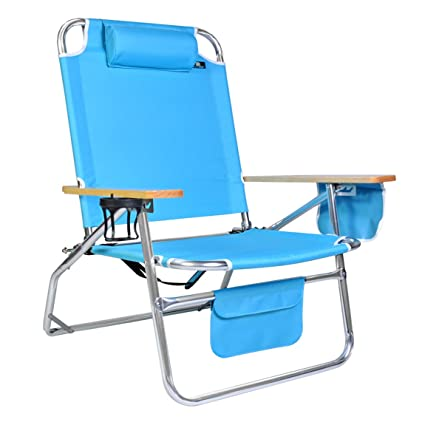 Big Jumbo Heavy Duty 500 Lbs XL Aluminum Beach Chair For Big U0026 Tall