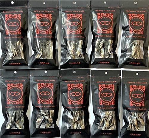 [スポンサー プロダクト]大橋珍味堂 世界の珍味シリーズ 焼めざし10袋(21g×10袋)セット/常備 お菓子 おやつ おつまみ まとめ買い ギフト