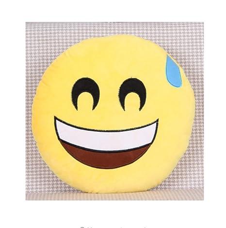 PENVEAT Emoji Almohadas Reyes 30 cm Amarillo Forma Redonda ...