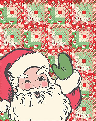 Urban Chiks Swell Christmas Santa Quilt Kit Moda Fabrics KIT31120 - Candy Canes Quilt Fabric