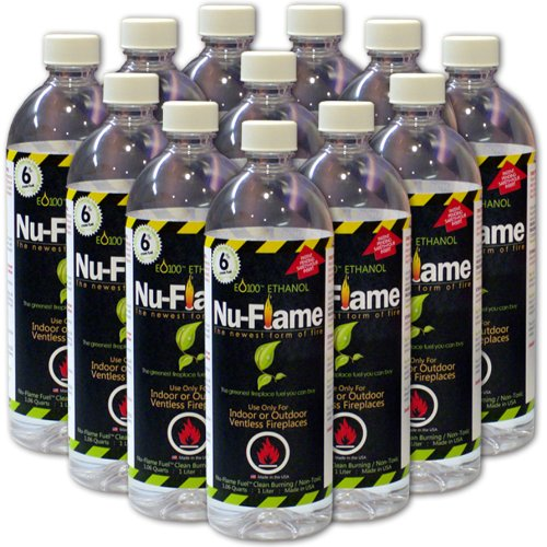 Nu-Flame Liquid Ethanol Fireplace Fuel, 1-Liter Bottle, (Portable Ethanol Fireplace)
