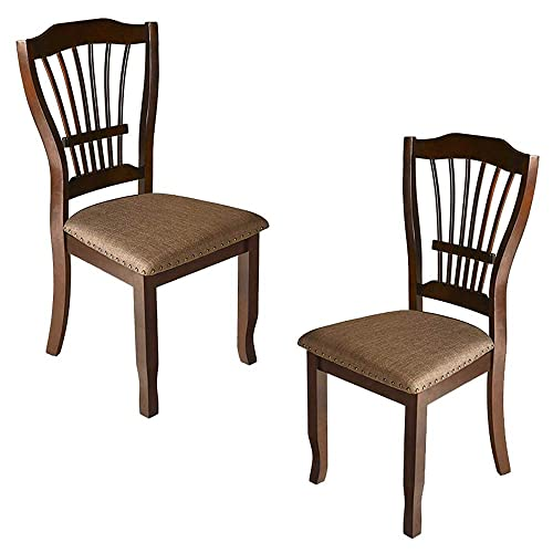 New Classic Furniture Bixby Dining Chair, Set of 2, Espresso