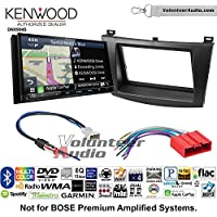 Volunteer Audio Kenwood Excelon DNX994S Double Din Radio Install Kit with GPS Navigation Apple CarPlay Android Auto Fits 2010-2013 Mazda 3