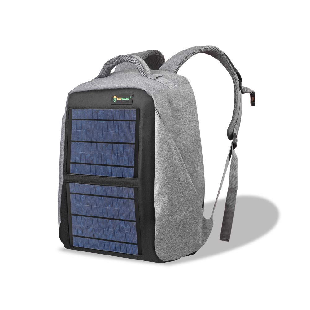 SUNKINGDOM portable hiking Powered Waterproof Anti-theft Durable and mutiple function solar backpack with 12W poly solar panel solar charger for all USB devices