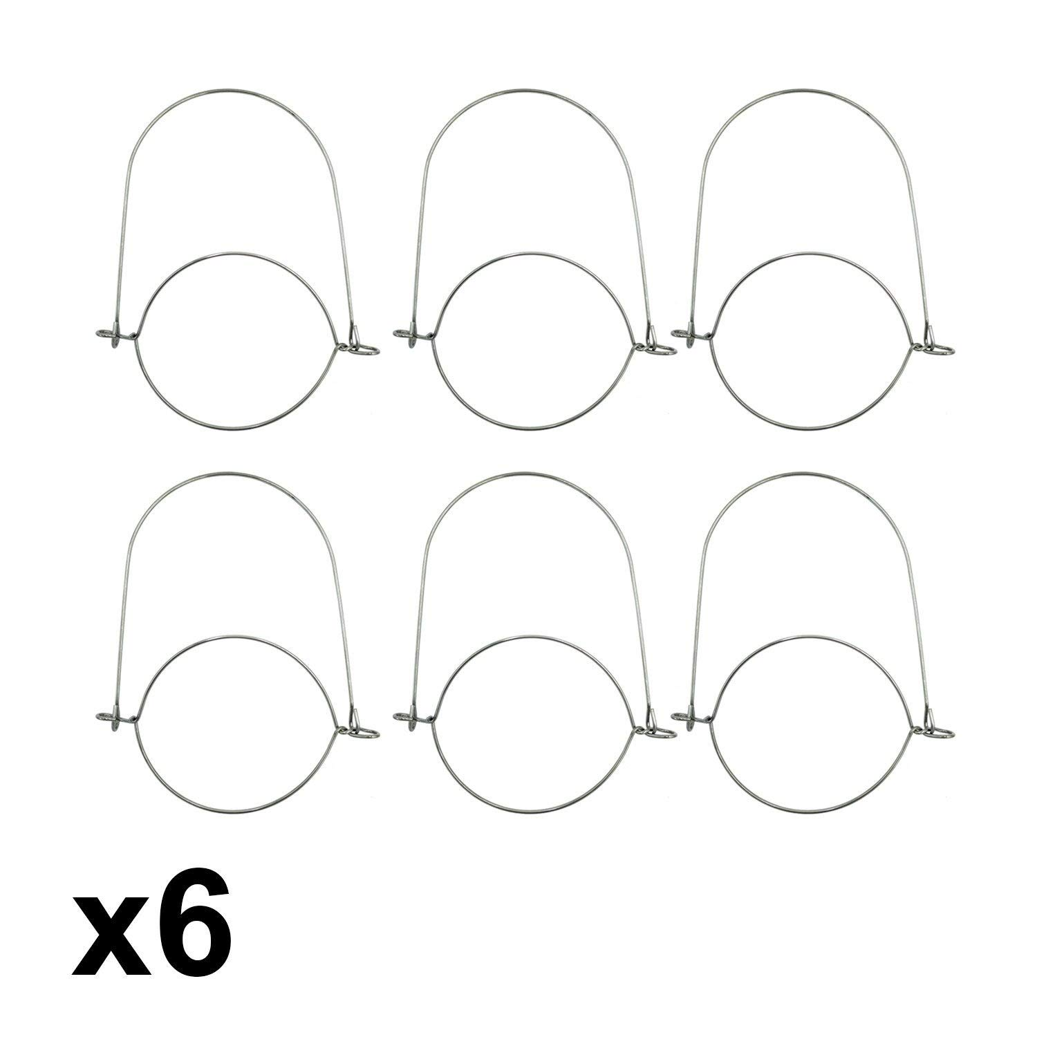 6 Pack, Regular Mouth Ball Stainless Steel Wire Handles for Mason Canning Jars
