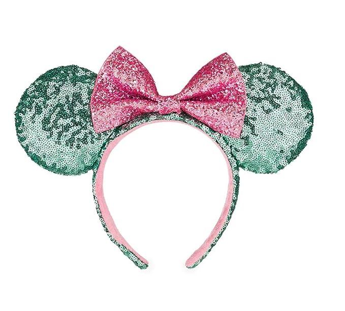 Disney Park Gold Minnie Mouse Ears Sequins Mickey Star Dot Bow Cos Headband
