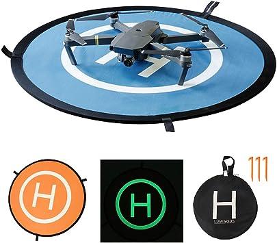 Opinión sobre BOTTLEWISE Drone Landing Pad, Universal Waterproof D 75 cm / 30 '' Pads portátiles de Aterrizaje Plegables para RC Drones Helicopter, PVB Drones, dji Mavic Pro Phantom 2/3/4 Pro, Antel Robotic (75cm)