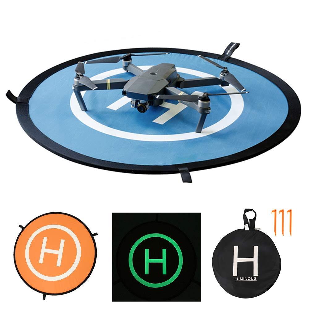 BOTTLEWISE Drone Rampa de Disparo 75cm Landing Pad para Aterrizaje RC Drones Helicopter, PVB Drones, dji Mavic Pro Phantom 2/3/4/ Pro Antel Robotic 3DR