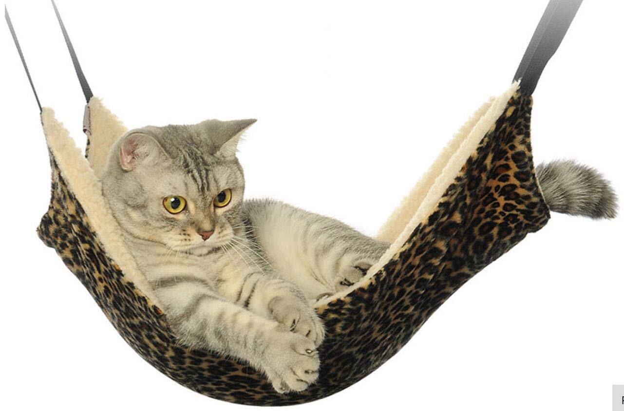 Ducomi sleepat - Hamaca de Gato con Suave y cálido Revestimiento - 53 x 35 cm - Carga Máxima 12 kg - para Gatos y pequeños roedores - fácil instalación con ...