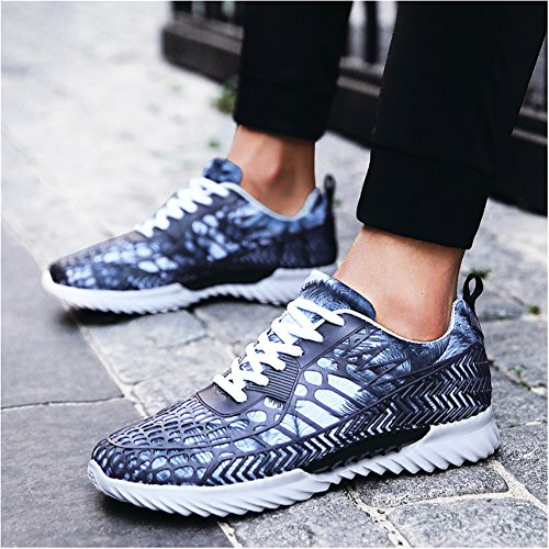 Leader Show Herrenmode Sportschuhe Laufschuhe Lace-up Comfort Walking Sneakers Grau
