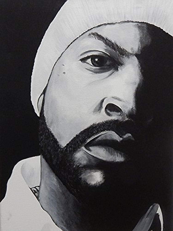 Buyartforless Ice Cube by Ed Capeau 18x12 Art Print Poster Wall Decor Rapper LA NWA CIA Producer Actor Rap Legand