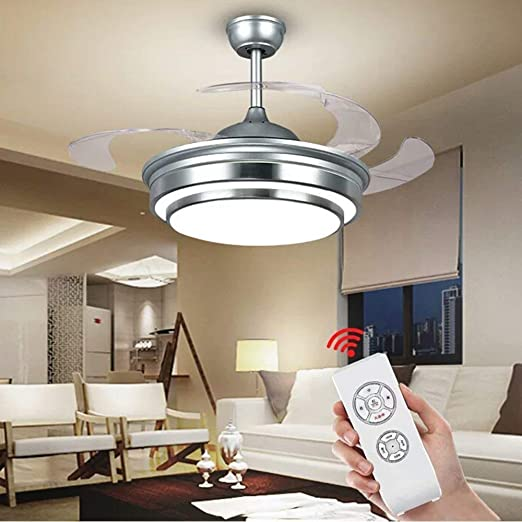 Vhouse Us 42 In Ceiling Fan Light Led Light Kit With Remote Control Suitable For Dining Room Fan Chandelier Lamp For Restaurant Study Room Living