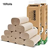 muxiao 16 Rolls of Solid Toilet Paper, Affordable Bamboo Pulp Toilet Paper, 4-ply Thickening
