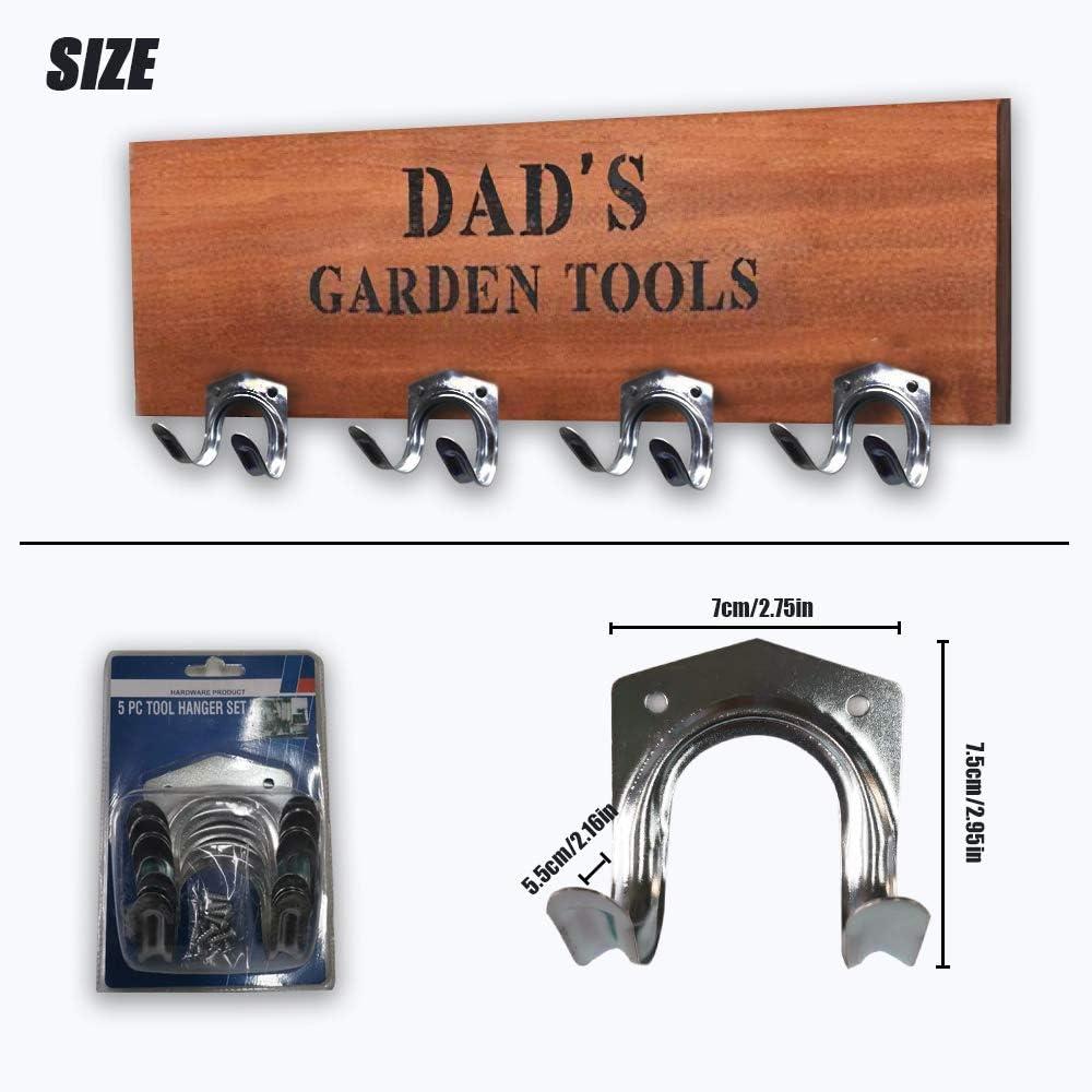 Juego de ganchos para colgar herramientas almacenamiento de herramientas cobertizos ganchos de pared garaje granja para almacenamiento banco de trabajo