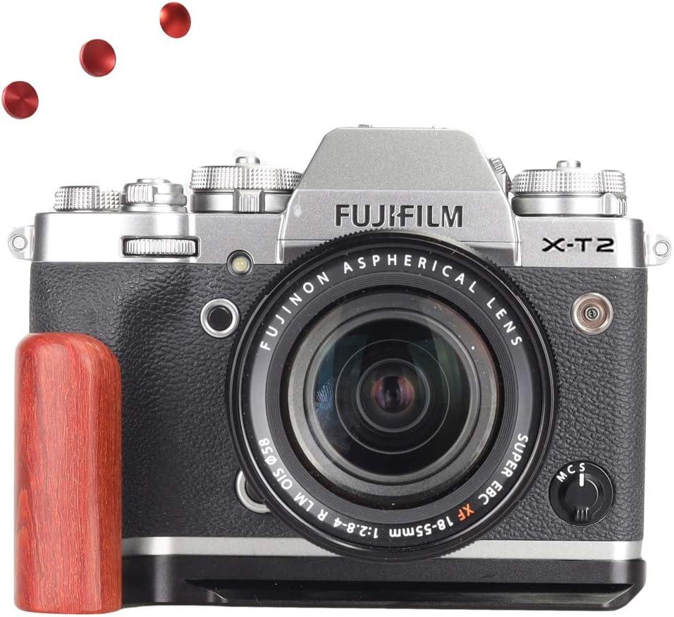 WEPOTO GP-ECG4 Tr/ípode Quick Release L Plate Metal Bracket Camera Hand Grip para Olympus pen-f
