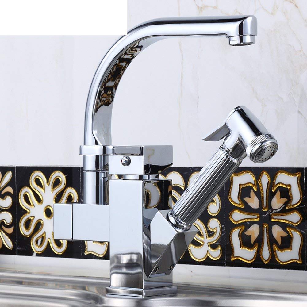 Kitchen Faucet All copper vegetables basin faucet Hot and cold sink faucet Tap both hot and coldA (color   , Size   )