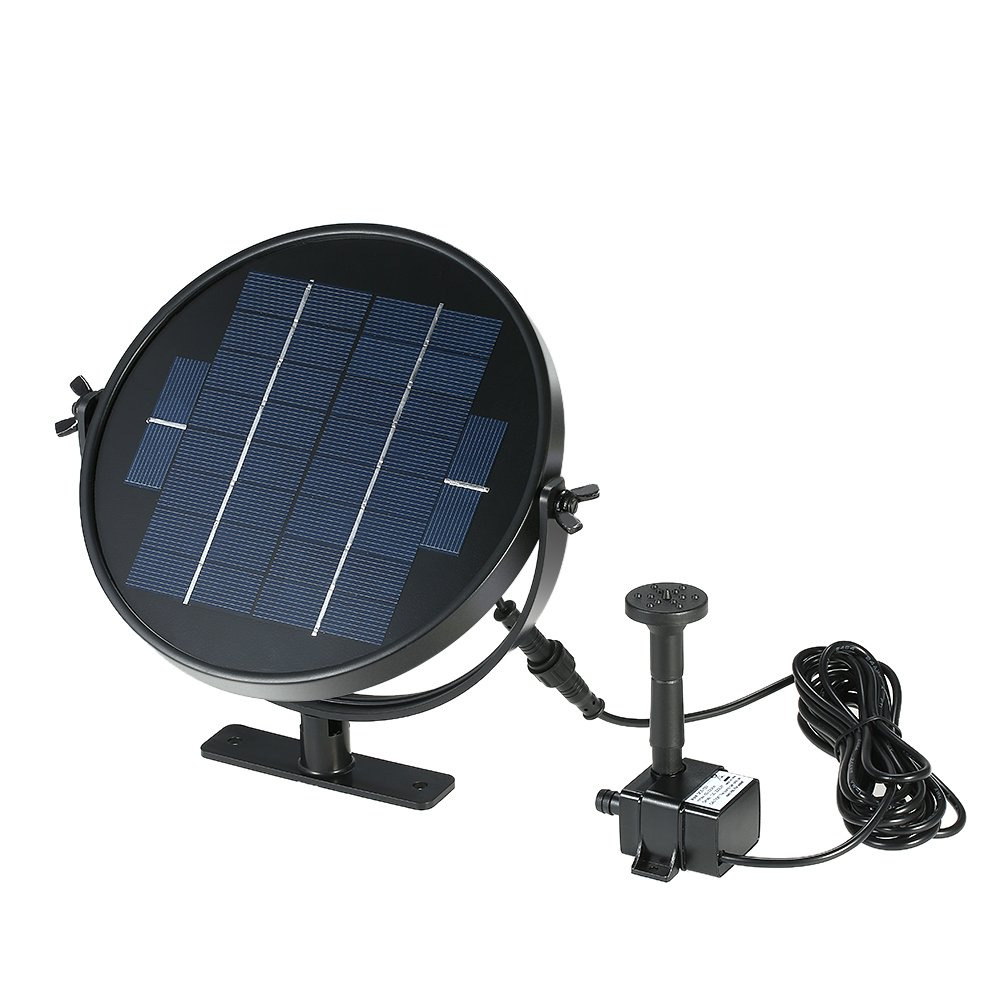 Anself Submersible Brushless Solar Panel Solar Powered Fountain Water Pump Kit for Bird Bath Pond Pull