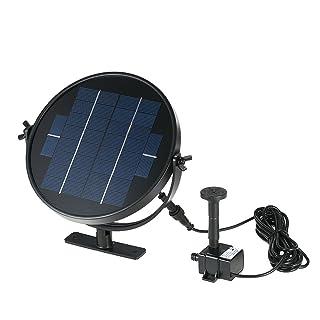 Anself - Bomba Sumergible con Panel Solar Giratorio para Agua Jardín Piscina Fuente, Elevación 190L/H 170cm