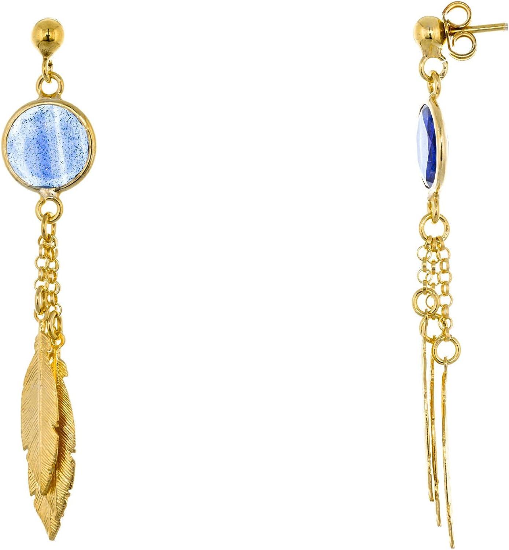 Córdoba Jewels | Pendientes en plata de Ley 925. Diseño Triple Pluma Suerte Montana