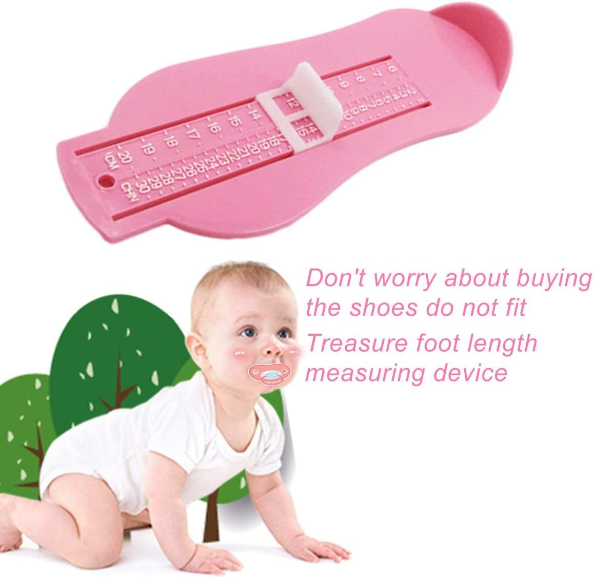 Kids Foot Measure Tool Shoes Helper Shoes Size Calculator Children Infant Feet Measuring Ruler Tool Baby Shoes Gauge Device MarinoBIRD
