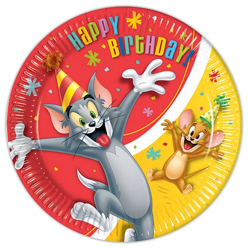 Tom And Jerry Party Supplies (Tom & Jerry 23cm Dinner Plates (Pack of 8))