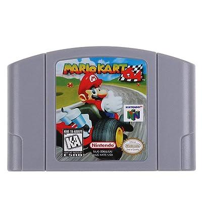 JohnJohnsen para Nintend 64 N64 Mario Smash Bros Zelda Cartucho de Videojuegos Tarjeta de Consola Juegos de 64 bits Idioma inglés Versión en EE. UU. (Mariokart Gris)