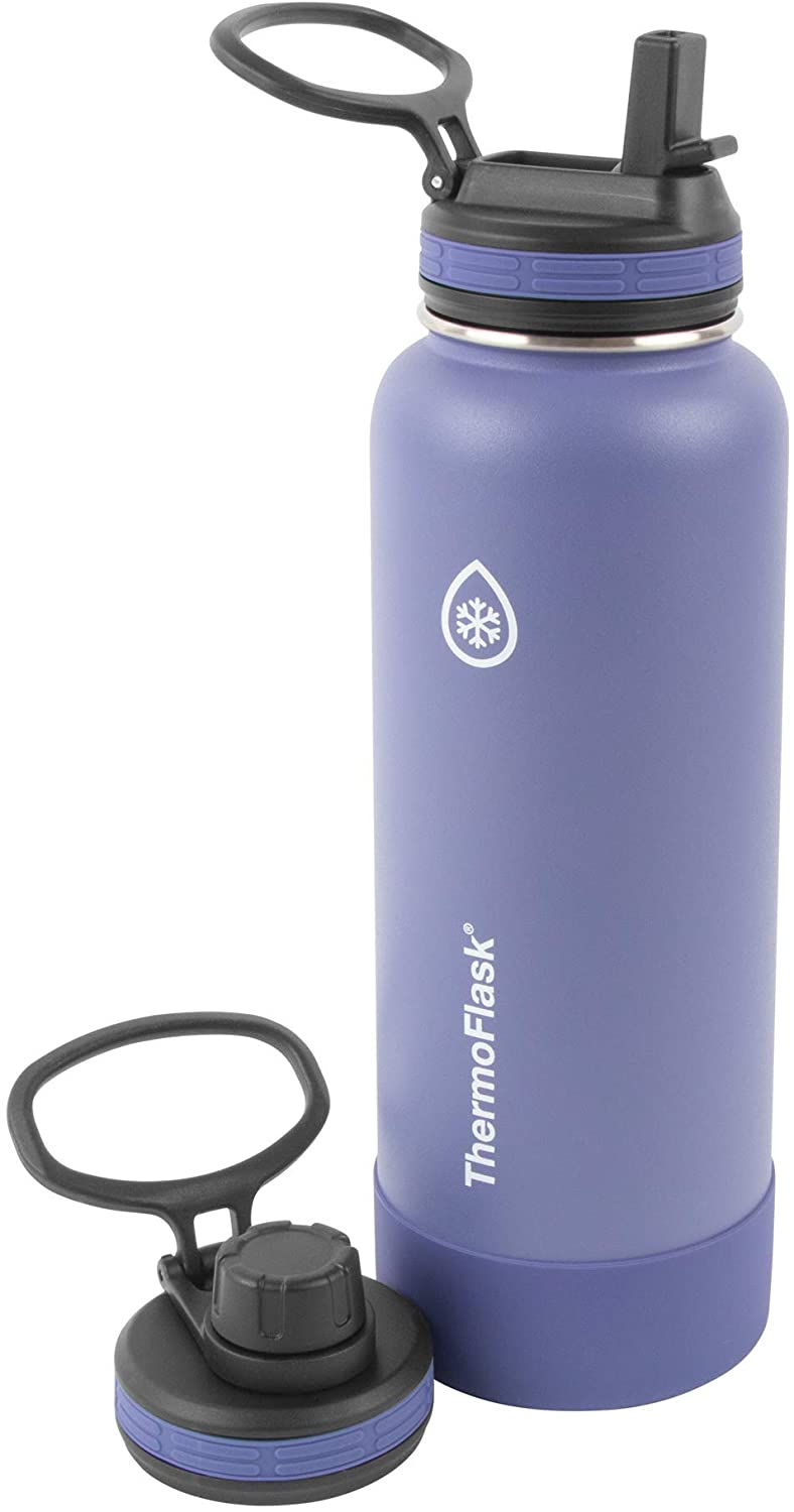 Superior Blue,Mauve ThermoFlask 40oz Spout Straw Combo Bottle 2pack
