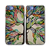 iPhone 7 Case-TTOTT 2x Floral Season Tree of Life Painting Ultra-Slim Anti-Scratch Reinforced Corner Protection Bumper TPU Best Friend Lovers Couple Matching Cover Case for iPhone 7 Case 4.7 inch (2016 New Model)