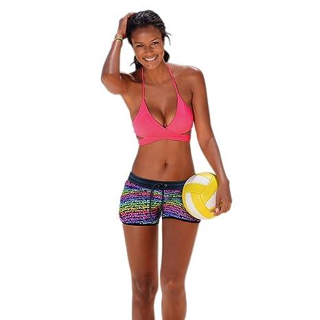 SLYlive 2018 - Conjunto de bikini para mujer, cuello halter, dos piezas, bañador