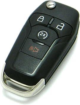 Amazon Com Oem Ford 4 Button Flip Key Fob Remote With Remote Start Fcc Id N5f A08tda P N 164 R8134 Automotive