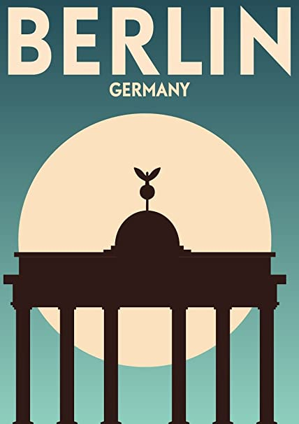 SonicPrint Vintage Travel Germany Berlin Poster