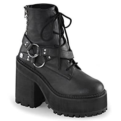 7d868f628d9186 Summitfashions Womens Studded Ankle Boots Black Vegan Leather Lace Up Shoes  4 3 4 Inch