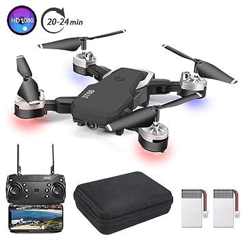 3T6B Drone Plegable, Cámara 1080P HD 5 megapíxeles, Avión WiFi FPV ...