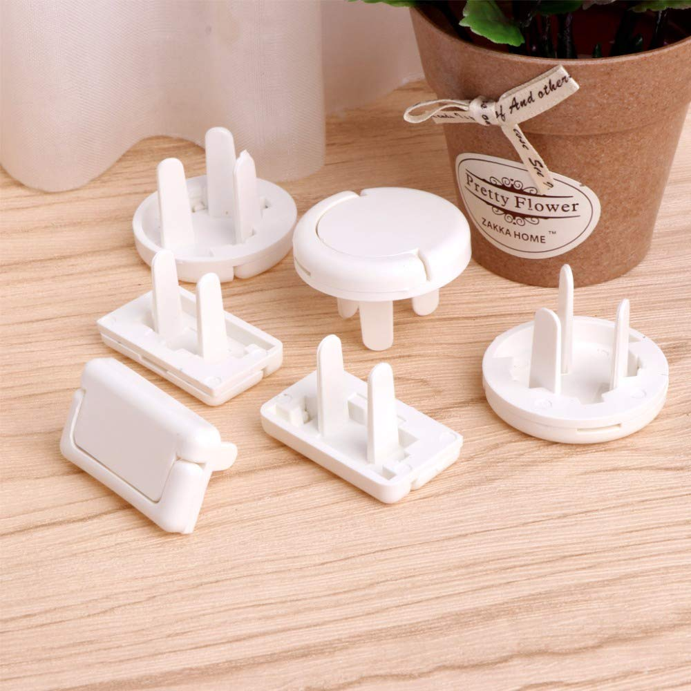 Gold Happy New 6Pcs Safety Electrical Protector Socket Outlet Plug Lock Cover for Baby s Safety Care