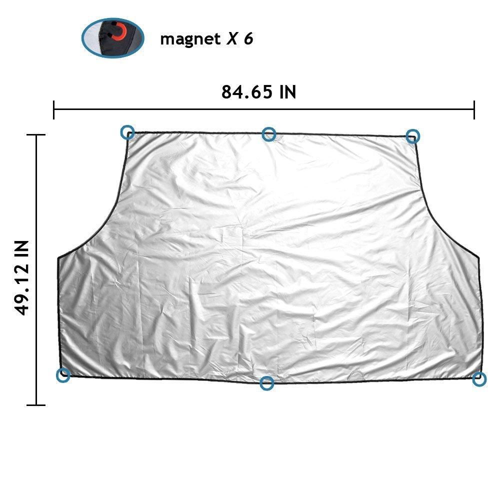 cubierta de invierno verano para todo tipo de condiciones climatol/ógicas. Cubierta de nieve parabrisas magn/ética Ploopy