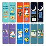 Creanoso Book Lovers Reading Bookmarks (60-Pack) - Inspiring Bookmarker Cards for Bibliophiles - Best Gifts Stocking Stuffers for Him, Her, Boyfriend, Girlfriend, Couple, Men or Women