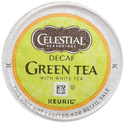 Celestial Seasonings Decaf Green Tea, K-Cup Portion Pack for Keurig K-Cup Brewers, 24-Count (Best Keurig Green Tea)