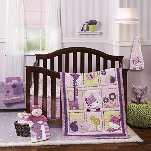 Lambs & Ivy Hopscotch Jungle 3-Piece Crib Bedding - Set Hopscotch Quilt