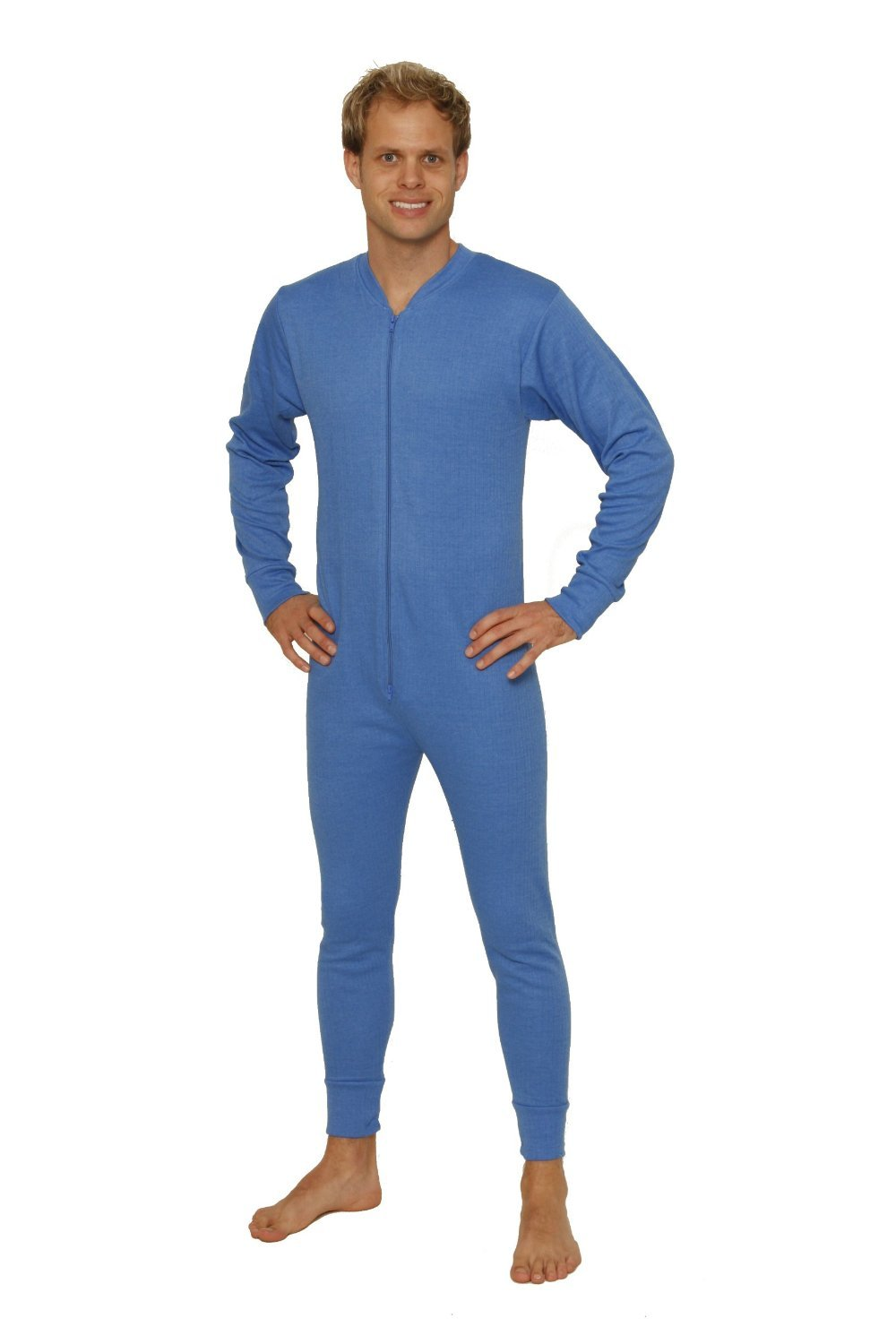 Octave 3 Pack Mens Thermal Underwear All in One Union Suit/Thermal Body Suit (Medium: Chest 36-38 inches, Blue) by Octave