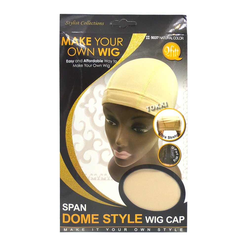 Qfitt Make Your Own Wig Span Dome Style Wig Cap #5037 Natural Color Qiftt