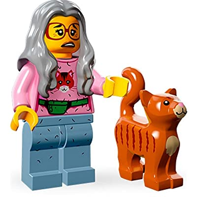 LEGO The Movie Minifigure Series Mrs. Scratchen-Post Cat Lady 71004-6: Toys & Games