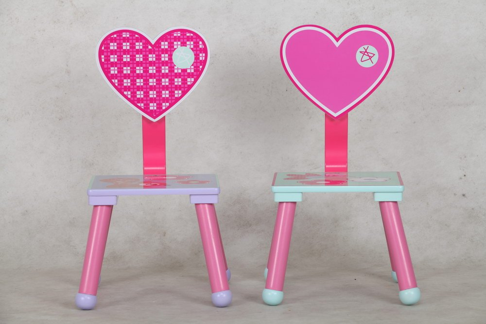 eHemco Kids Table and Chair Set - Heart Theme by eHemco (Image #2)