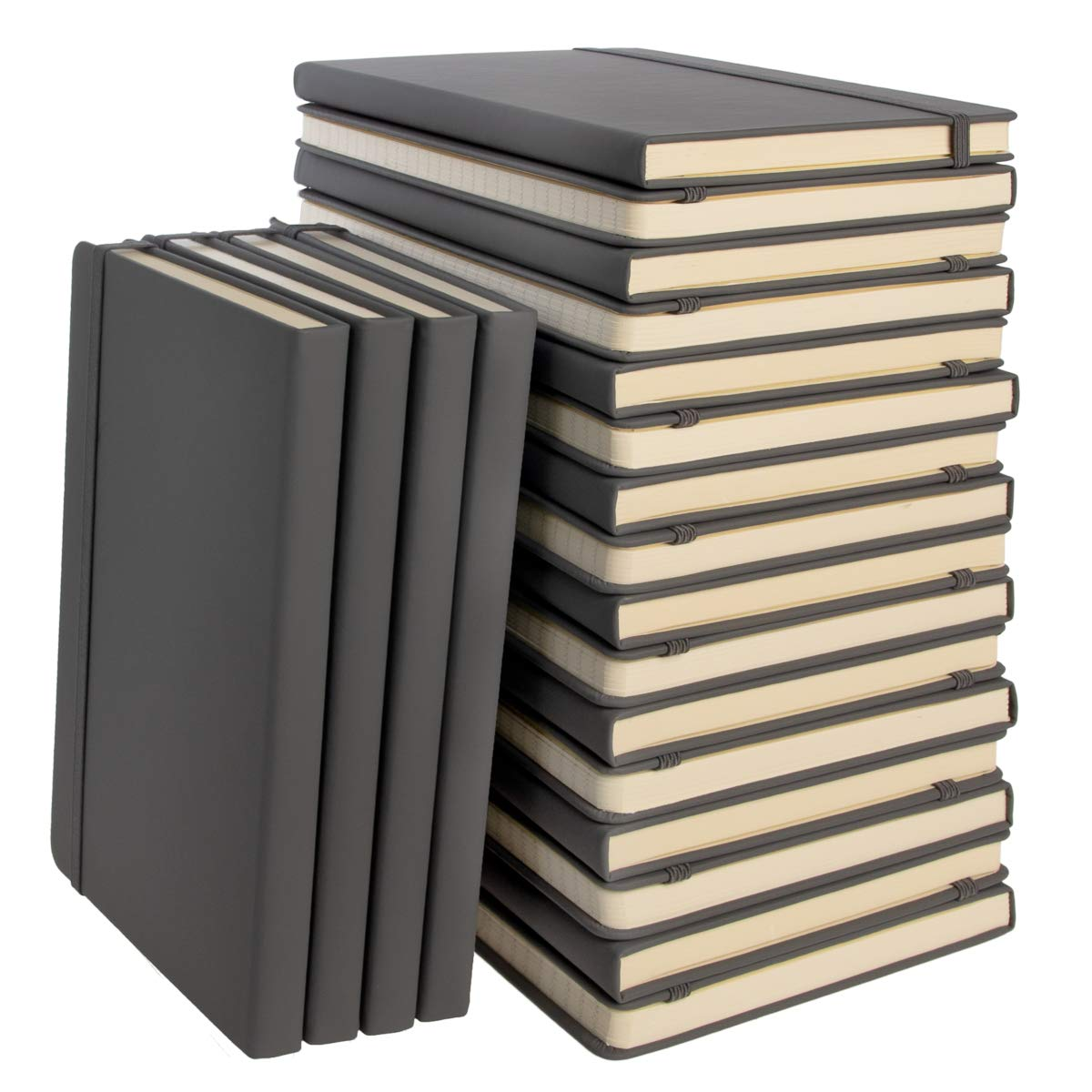 Simply Genius (20 Pack) A5 Hardcover Leatherette Journals to Write in for Women, Faux Leather Journal for Men, Writing Journal Notebook Lined, 192pg Ruled, 5.7'' x 8.4'' by Simply Genius