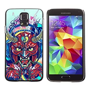 Designer Depo Hard Protection Case for Samsung Galaxy S5 / Japanese Devil Horn Monster