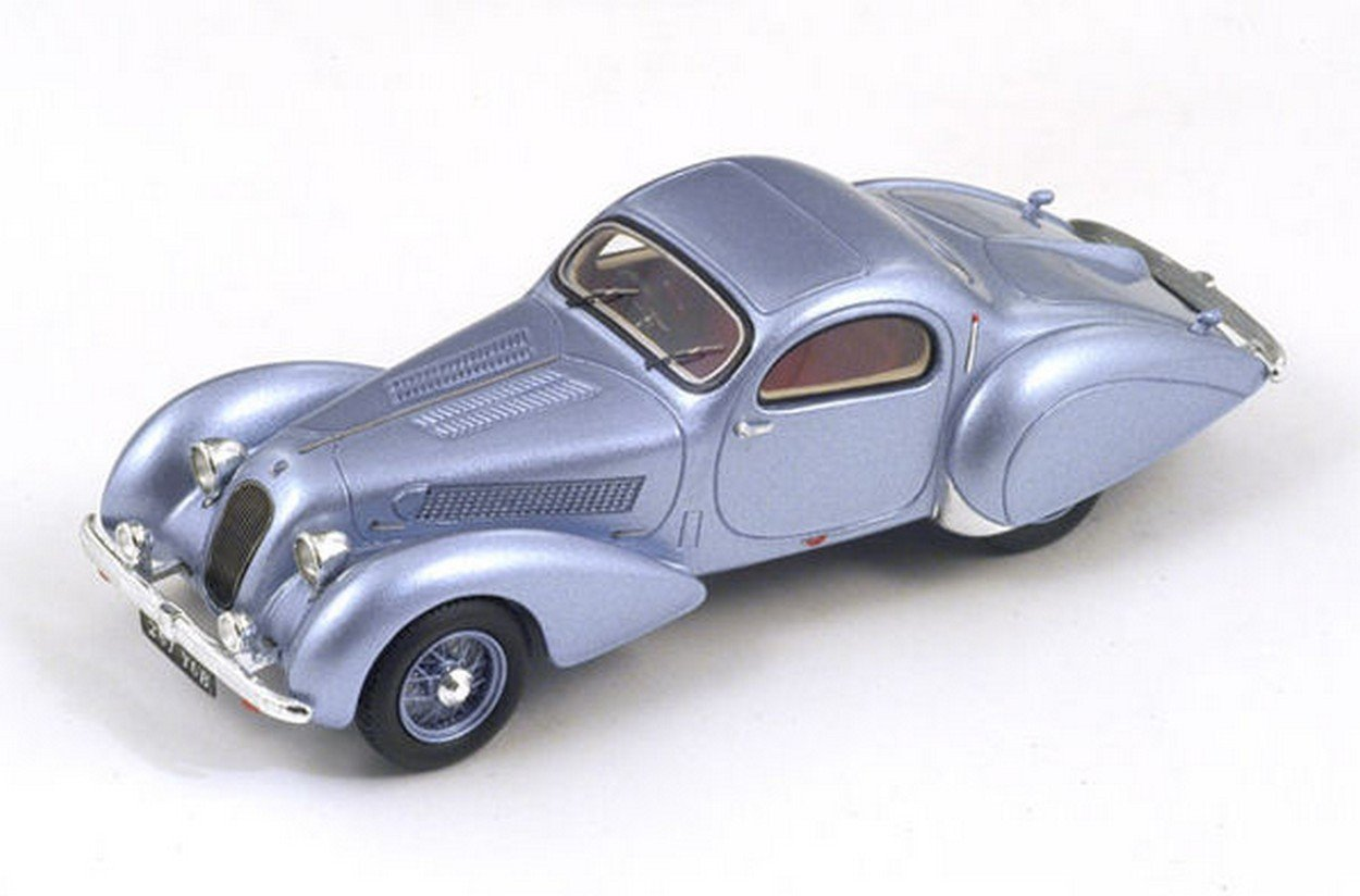 Spark Model S2721 Talbot T23 F  F Teardrop Coupe 1938 Grey 1:43 Die Cast Model