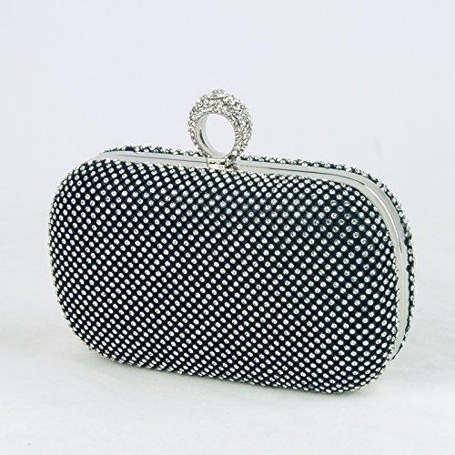 à sac petit sac à dame FYios dîner dîner sac mariée sac sac sac sac black main main Soirée Big femme diamant 0w5ZqA