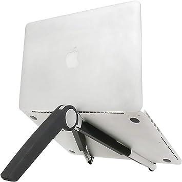 Adjustable Folding Tablet Bracket Mount Portable Laptop Stand Holder White