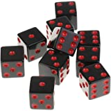 Lovoski 10個 D6骰子  6面 アクリル ダイス ダンジョンズ&ドラゴンズ RPG MTGボードゲーム用 アクセサリー 全4色 - レッド