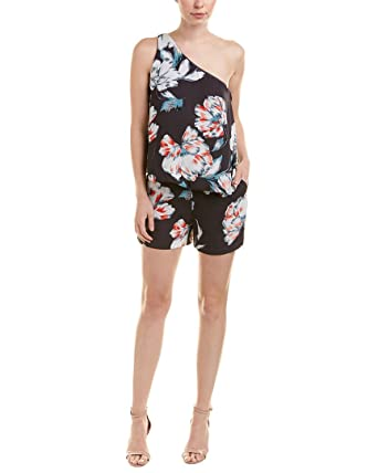 a9efce150687 Amazon.com  1.State Womens One Shoulder Popover Romper  Clothing