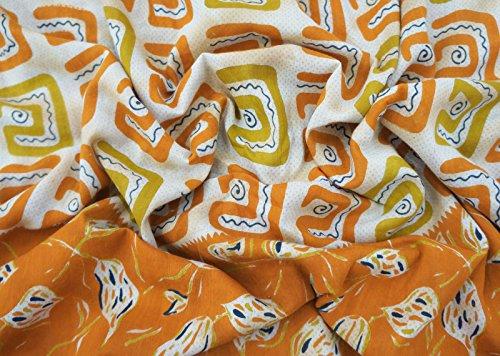 Indian Ethnic Vintage Saree Pure Cotton White Sarong Printed Sari Craft Fabric